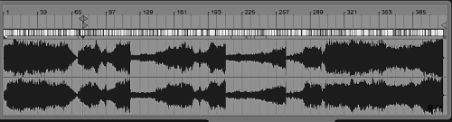 waveform of splash complete