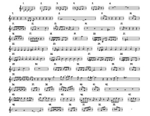 Terry Riley In C full score