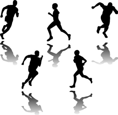 set_of_running_elements_people_silhouette_vector_524841