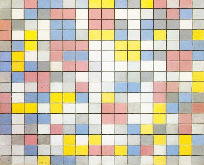 Composition with Grid IX, 1919 Piet Mondrian