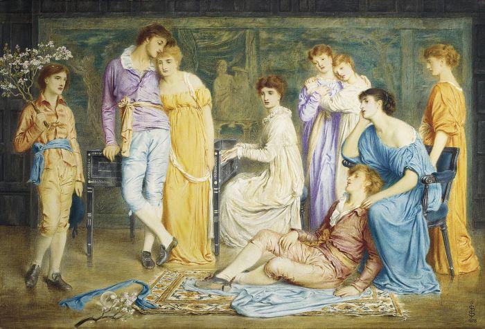 Simeon_Solomon_-_A_prelude_by_Bach_(1868).jpg